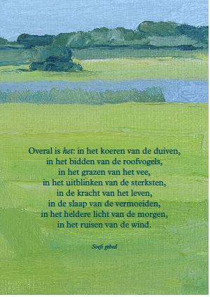 Zinkaart Anne Jitske Soefi gebed 2014