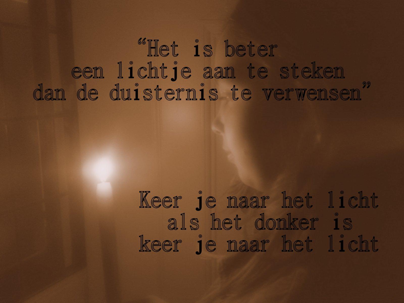 Gedicht licht en liefde