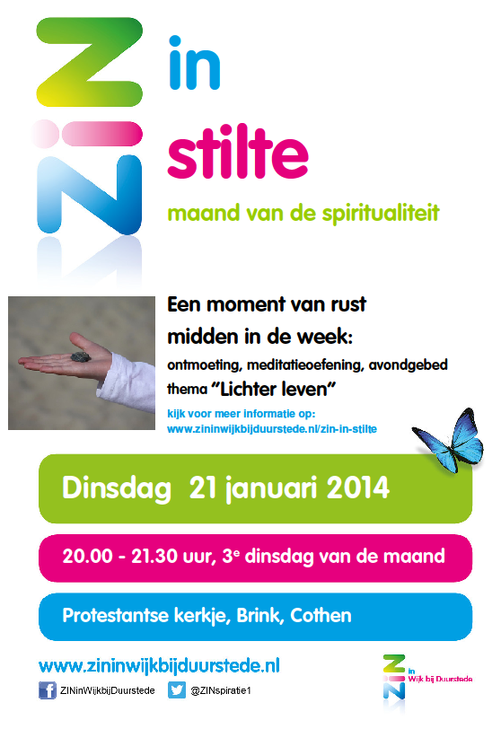 poster zin in stilte jan 14