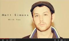 With you - Matt Simons